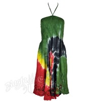Rasta and Reggae Swirl Tie Dye Dress – Women's | RastaEmpire.com