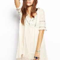 Free People Little Dot Dress with Embroidery