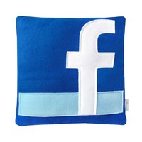 Facebook Pillow by Craftsquatch on Etsy