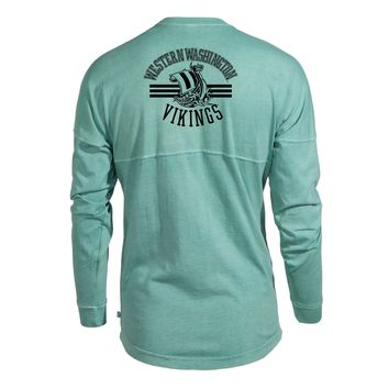 Western Washington Vikings NCAA T-Shirt Women's Long Sleeve Spirit Wear Jersey T-Shirt