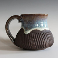 DISCOUNTED Coffee Mug, 12 oz, handthrown ceramic mug, stoneware pottery mug, unique coffee mug