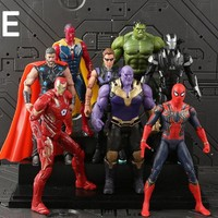8pcs/set Super Hero figure Toys Avenger pvc Model Boy Girl Toys Interesting Gift hot sale