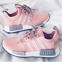 """""""Adidas"""" NMD Fashion Trending Running Sports Shoes Sneakers Pink"""