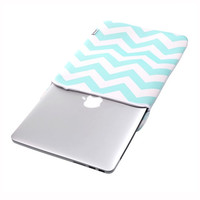 """TopCase Chevron Series Hot Blue Sleeve Bag Cover for All 15"""" 15-inch Laptop Notebook / Macbook Pro with or without Retina Display"""