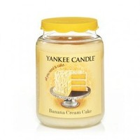 Yankee Candle 22 oz Jar Candle Limited Edition BANANA CREAM CAKE - New Scent for Fall 2012