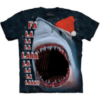 XMAS SHARK The Mountain Funny Christmas Santa Claus Hat Ugly T-Shirt S-3XL NEW