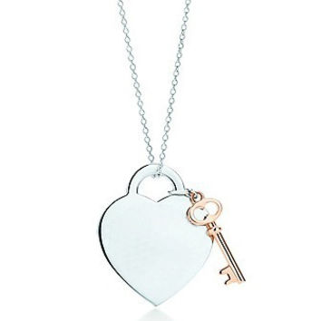 Classic Key & Heart Necklace