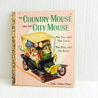 The Country Mouse And The City Mouse - Vintage Little Golden Book - 1969