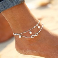 Beach Ankle Infinite Foot Jewelry Anklets  Bracelets For Women
