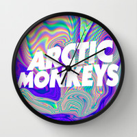 Psychedelic Arctic Monkeys Logo Wall Clock by julia | Society6