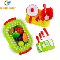 20pcs / set Plastic Kitchen Food Fruit Vegetable Cutting Toys Kids Pretend Play Educational Toys Cook Cosplay Toys For Chiledren