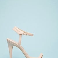 Faux Patent Leather Strappy Sandals