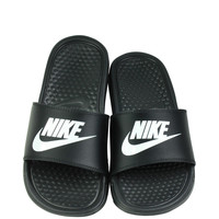 Nike Kid's Benassi JDI GS Sandals Slide Black White