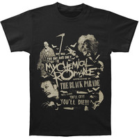My Chemical Romance Men's  Scary T-shirt Black Rockabilia
