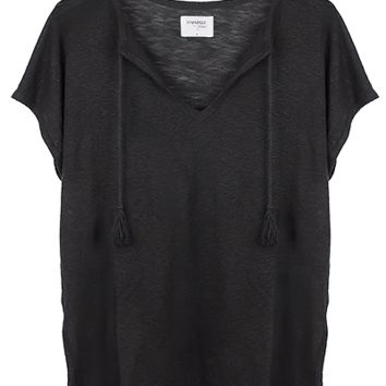 MAYA OVERSIZED LINEN TOP - BLACK – Shop Sincerely Jules