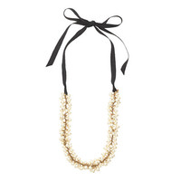 J.Crew Womens Pearls And Ribbons Necklace