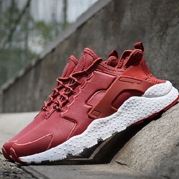 """""""NIKE"""" Air Huarache Casual Running Sport Shoes Sneakers Red"""