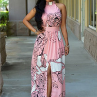 Floral Print Prom Party Dress 10303