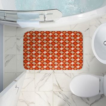 Bathroom Towels By Julia Grifol Circles Red