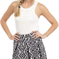 Full Of Love Jacquard Knit Skirt