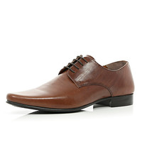River Island MensBrown formal lace up shoes