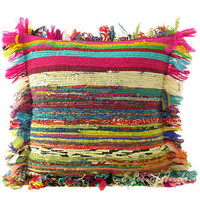 """16"""" COLORFUL CHINDI PILLOW CUSHION COVER THROW ECLECTIC Yoga Ethnic Decorative"""
