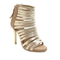 Women's Hollowed-out Large Size Open-toe Stiletto Heel Gladiator Sandals