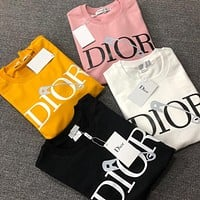 DIOR Men Women Fashion Pullover Sweatshirt