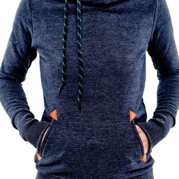 Embroidery Long Sleeve Pocket Solid Color Pullover Tops Sweater