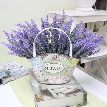 Romantic Provence decoration lavender flower silk artificial flowers grain decorative Simulation of aquatic plants