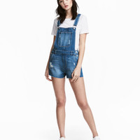 H&M Denim Bib Overall Shorts $34.99