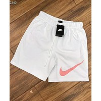 NIKE classic big hook sports running training football shorts F-AG-CLWM white