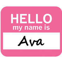 Ava Hello My Name Is Mouse Pad