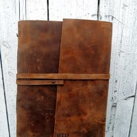 Personalized Leather Journal / Large Leather Journal Notebook Gift for Him Leather Writing Journal