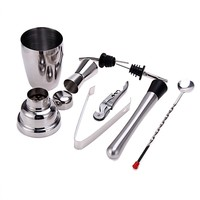 8Pcs/set 350ML Cocktail Shaker Mixer Drink Bartender Kit Stainless Steel Wine Tools Bar Sets for Making Delicious Cocktail