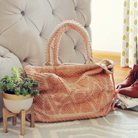 Winter Peach Tote