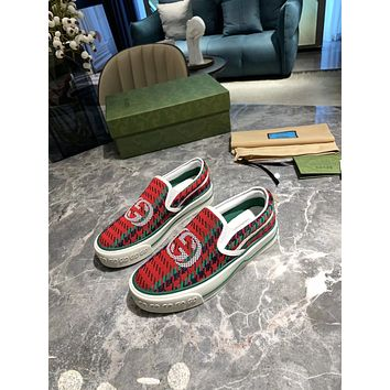 Gucci2021 Women Fashion Boots fashionable Casual leather Breathable Sneakers Running Shoes0601gh