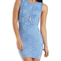 Lace Bodycon Dress with Open Sides by Charlotte Russe