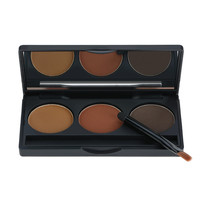 ABODY 3 Colors Palette Cosmetic Tool Makeup Kit with Brush & Mirror