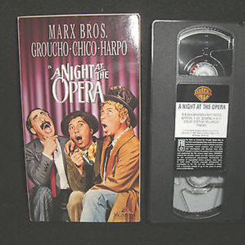 A Night At The Opera Vhs Video Marx Bros. Groucho Chico Harpo