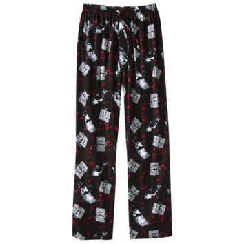 Men's Walking Dead Sleep Pants - Black