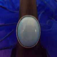 Baby Blue, Robin Egg Blue Adjustable Ring, Recycled Vintage Earring, Vintage Wedding Accessories