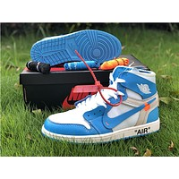 The 10: Off-White x Air Jordan 1 Blue/White Sneaker
