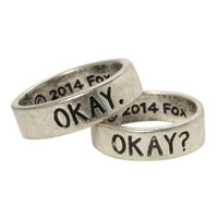 The Fault In Our Stars Okay? Okay His Hers Ring Set