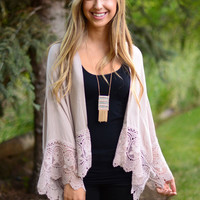 Counting On You Cardigan - Mauve