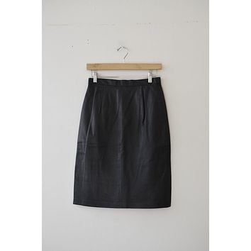 Expressions Leather Skirt