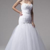 KCW1530 Strapless White Mermaid Wedding Dress by Kari Chang Eternal