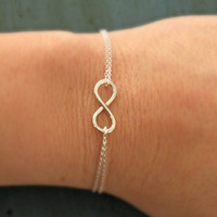 ON SALE Sterling Silver Infinity Bracelet Simple Minimalist Jewelry Designer Inspired bridesmaid Gifts Sorority Gifts