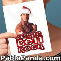 Holiday Cards | The Rock | Rocky Maivia Boyfriend Card Happy Holidays Boyfriend Gift Dwayne Johnson Girlfriend Card Santa Claus Gift For Her