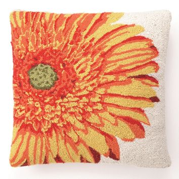 Yellow Gerbera Hook Pillow 18X18""